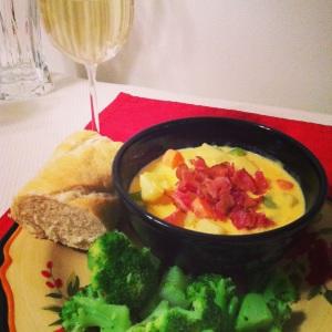 Homemade Potato Cheese Soup