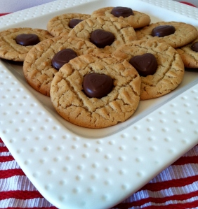 Peanut Butter Cookies with Dove Heart Chocolates