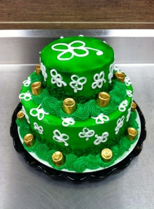 2 Tier St. Patrick's Day Cake