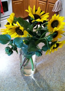 Why is it when he comes home with handpicked flowers it can give me a bigger smile than store bought bouquets? :)