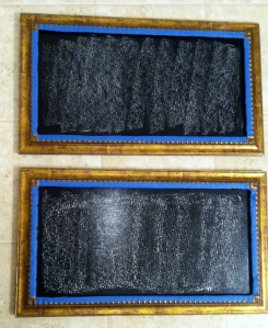 condition by covering with chalk