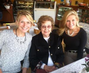 celebrating with Grandma and Kristin