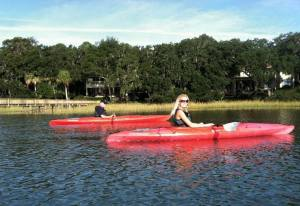 kayaking with Dad
