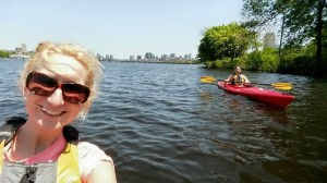 kayaking the Charles River in Boston